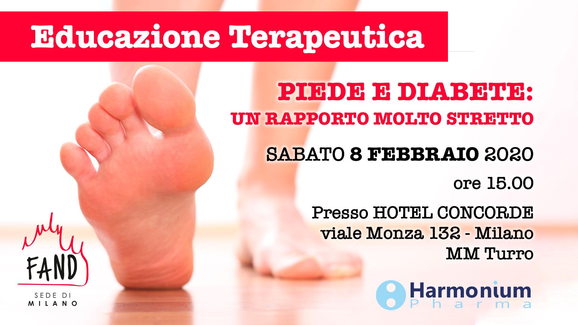 Sabato 8 febbraio - Incontro di educazione terapeutica - Piede e Diabete