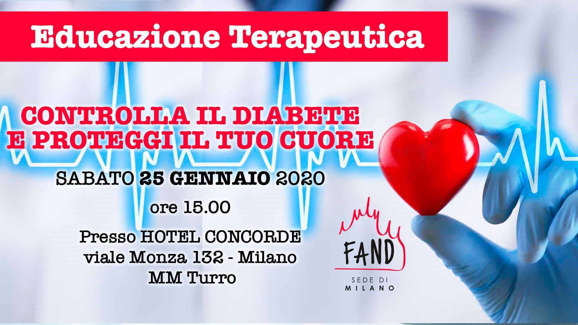 25 GEN 2020 - Incontro di Educazione Terapeutica - Controlla il Diabete e proteggi il tuo cuore
