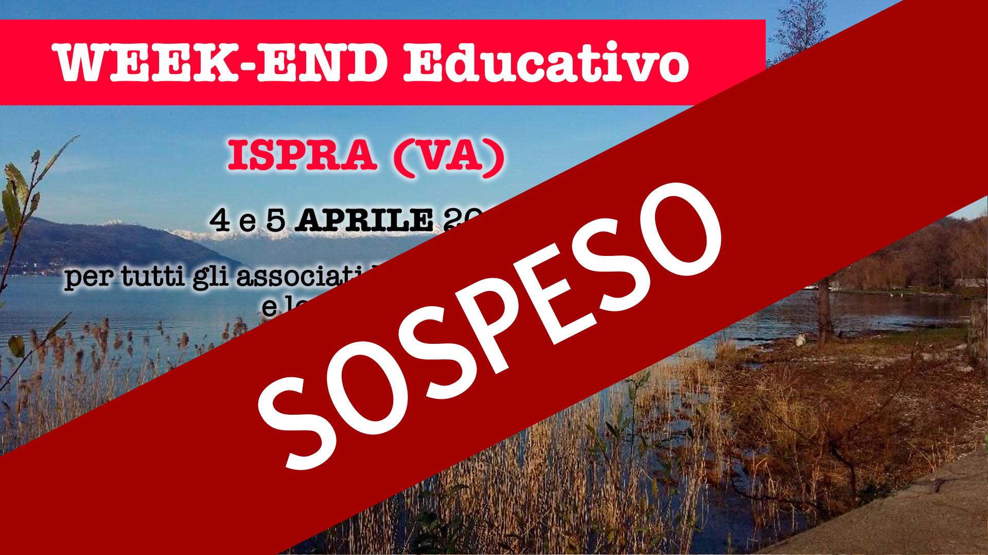 4-5 APR 2020 - Week-end Educativo - Ispra (VA)
