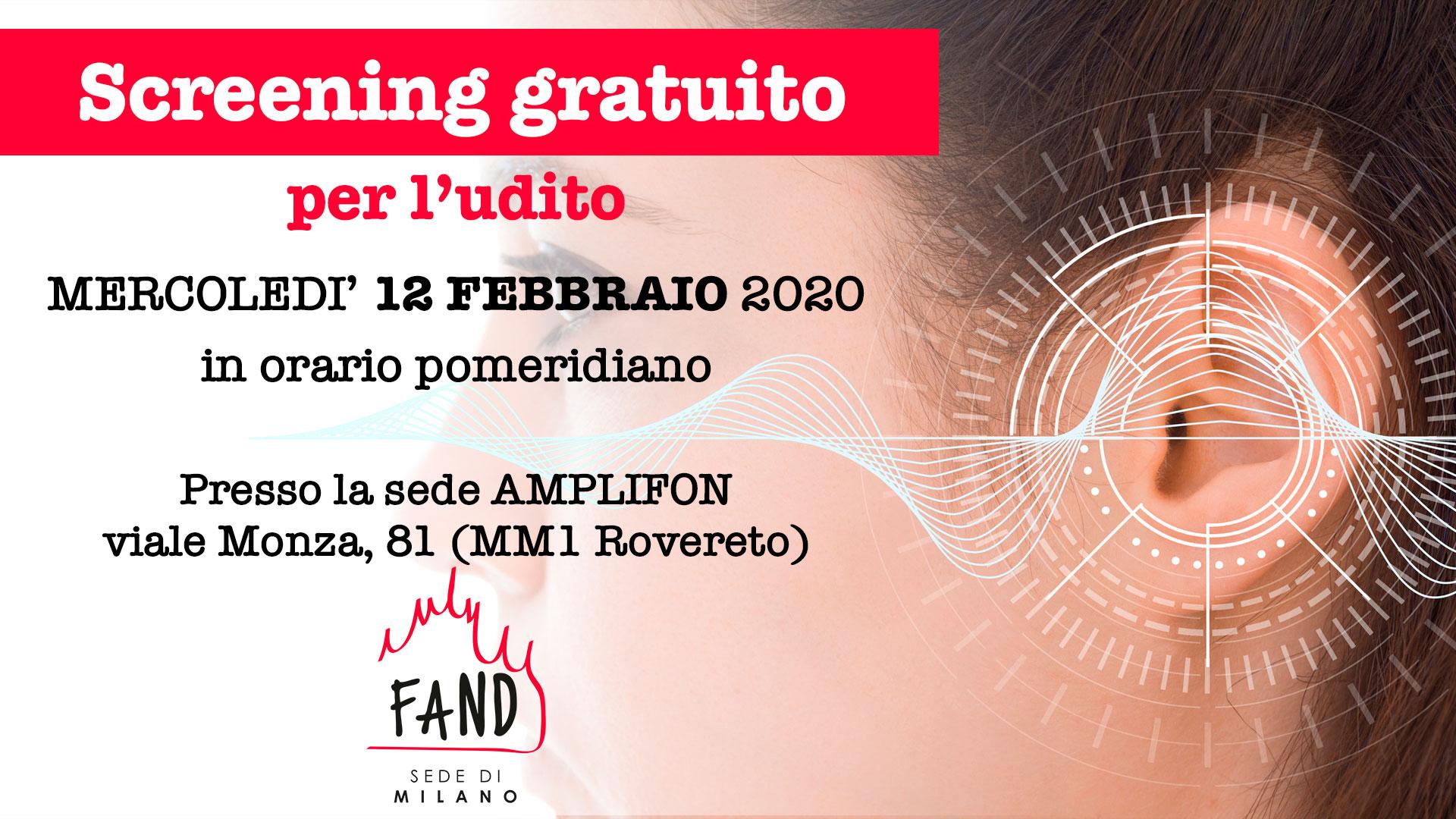 12 Febbraio 2020 - Screening gratuito dell'udito